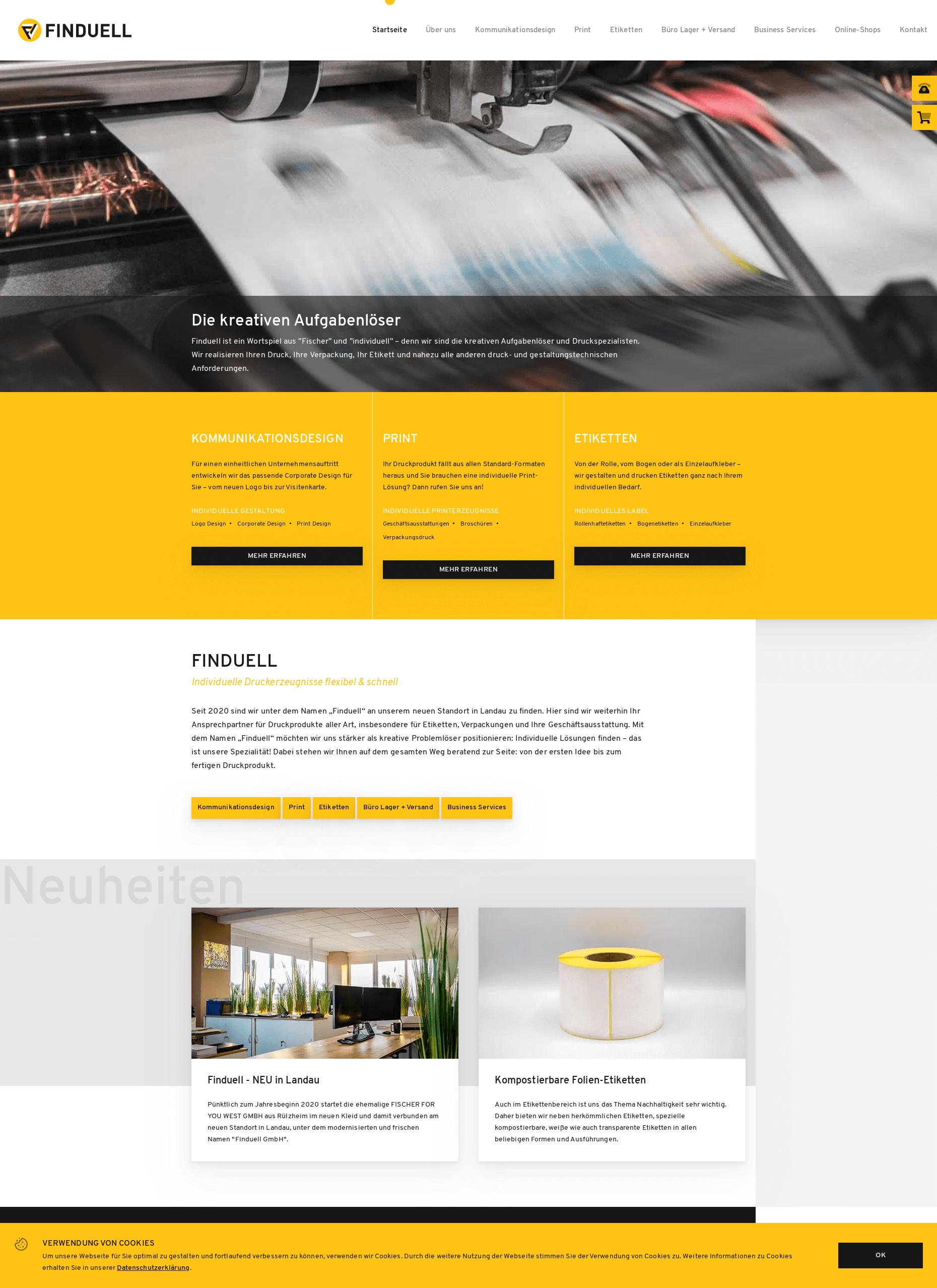 Finduell Website