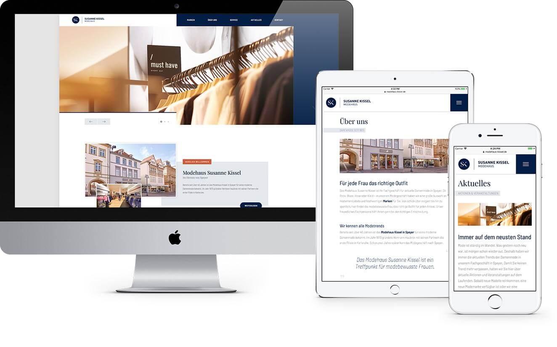 Responsive Webdesign für das Modehaus Kissel in Speyer