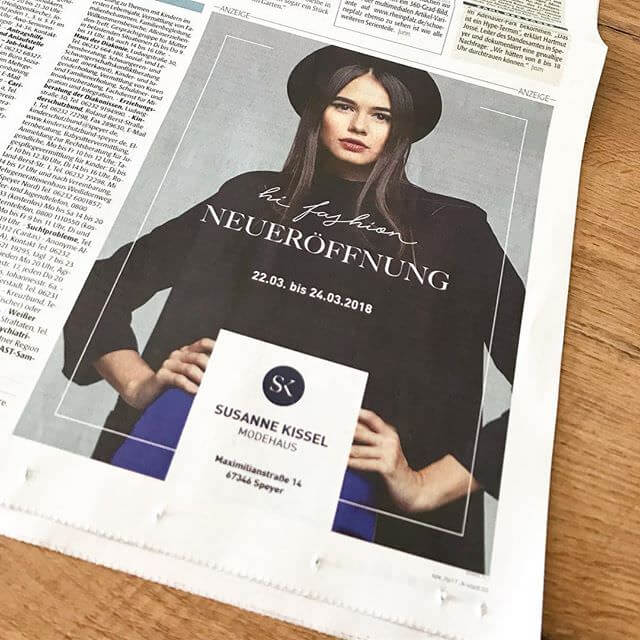 Modehaus Kissel: Zeitungsanzeige
